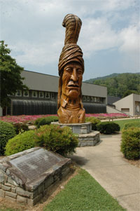 Cherokee, NC museum and Indian Village
